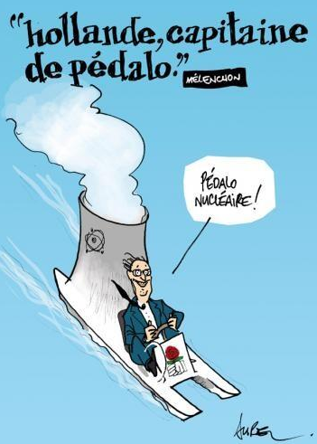 HOLLANDE capitaine de pédalo
