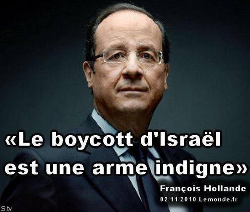 HOLLANDE ISRAËL et boycott