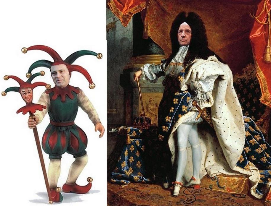Le Roi HOLLANDE et le fou VALLS Dessin