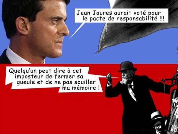 Manuel VALLS et Jean JAURES