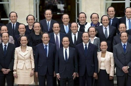 Photo d'un remaniement efficace avec HOLLANDE