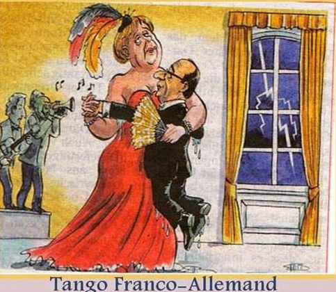 TANGO franco allemand dessin humoristique
