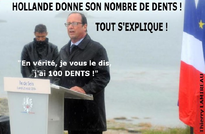 HOLLANDE AVOUE SON NOMBRE DE DENTS