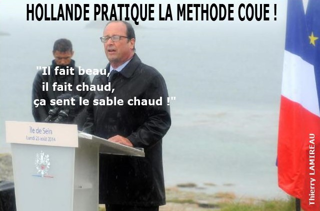 HOLLANDE pratique la méthode COUE