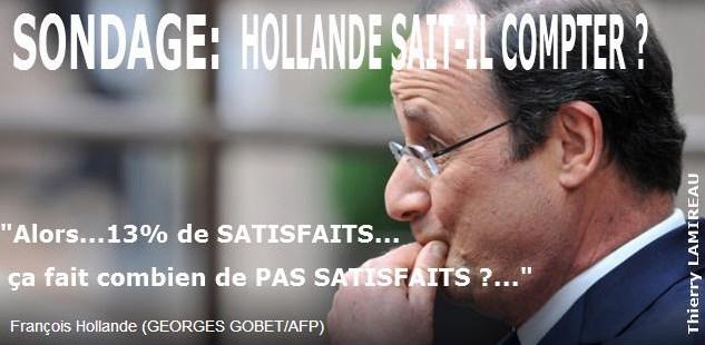 SONDAGES  HOLLANDE SAIT-IL COMPTER