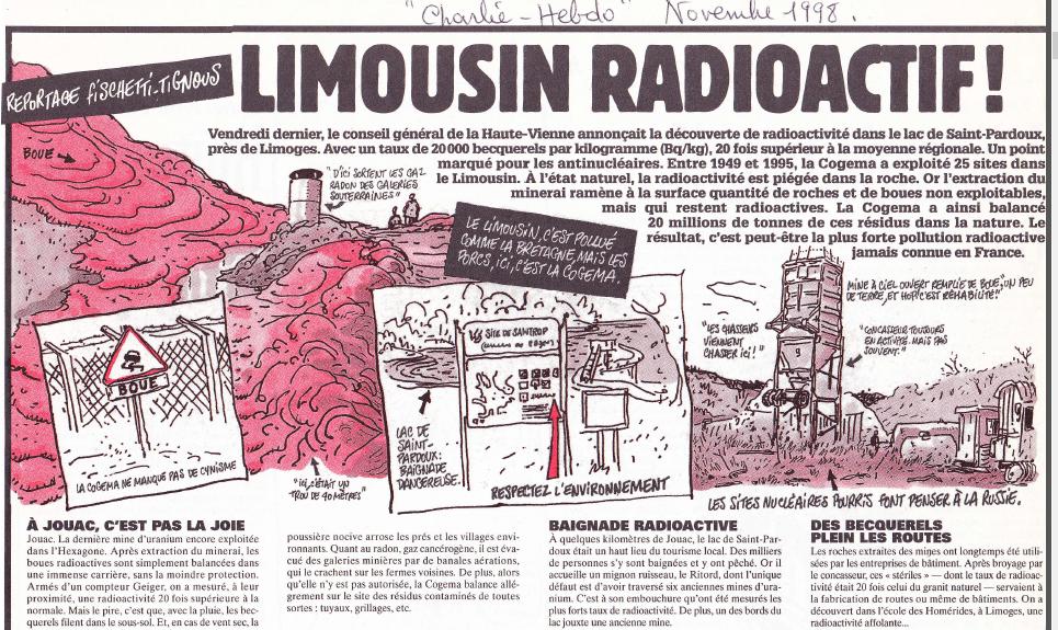 CHARLIE HEBDO 1 LE LIMOUSIN RADIOACTIF