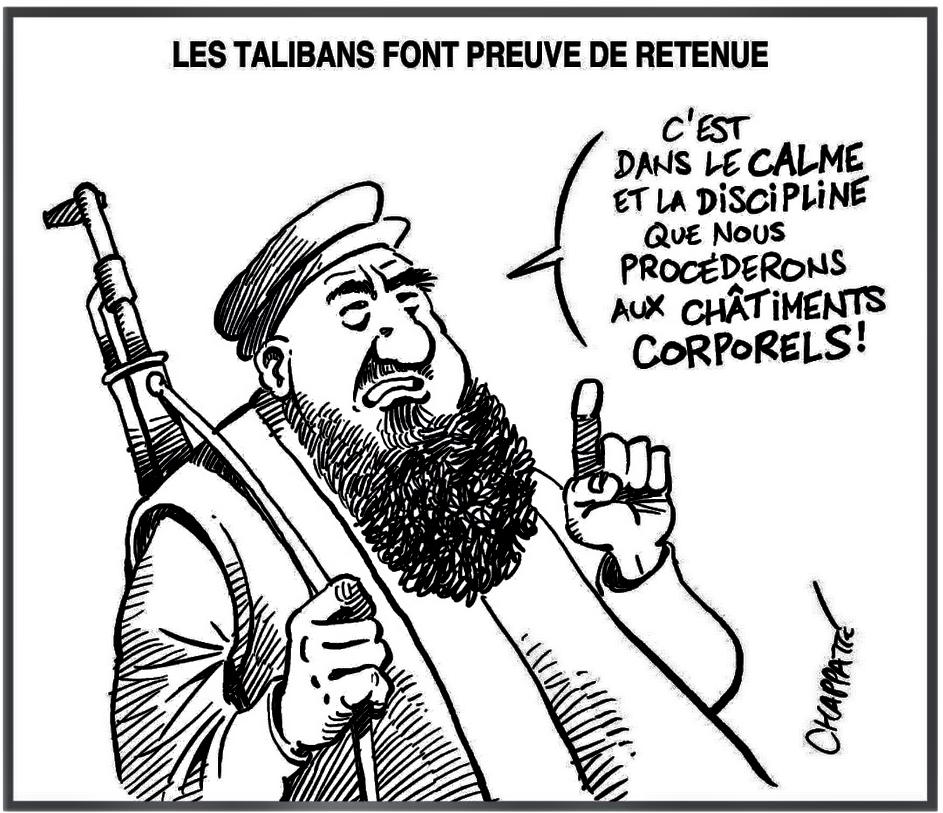 Humour en dessin Les TALIBANS feront preuve de retenue 19 août 2021png