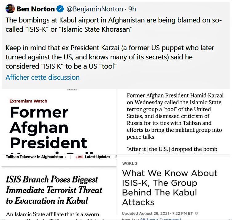 Message du journaliste Ben NORTON
