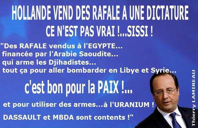 HOLLANDE vend des RAFALE à l'EGYPTE Il est content