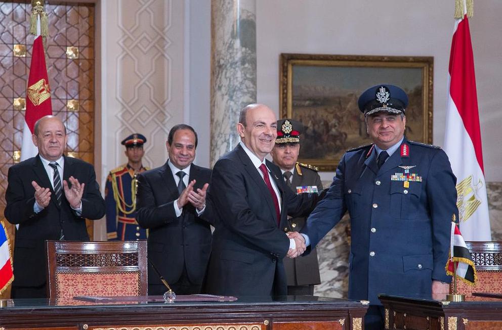 Photo R PELLEGRINO Ministère de la Défense Signature RAFALE EGYPTE