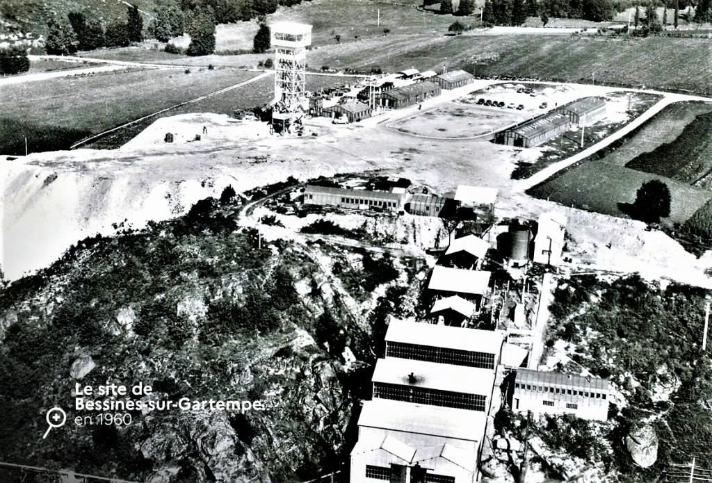 URANIUM Site de BESSINES en 1960