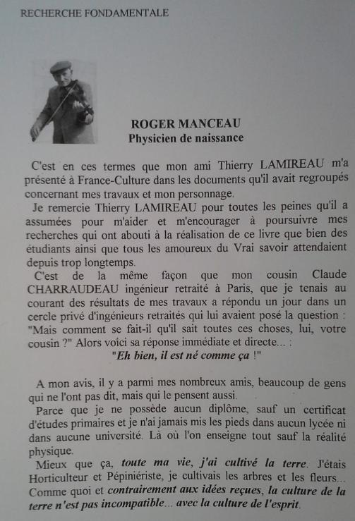 La réalité physique Roger MANCEAU 2