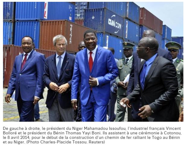 BOLLORE et les Présidents du NIGER du BENIN