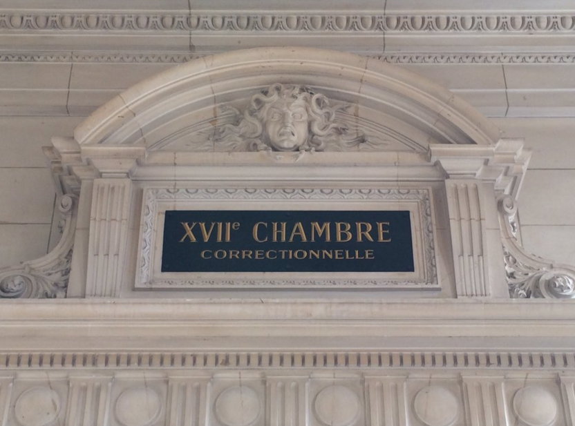 Frontispice de la 17e Chambre Correctionnelle du TGI de PARIS Photo de Sylvain TRONCHET