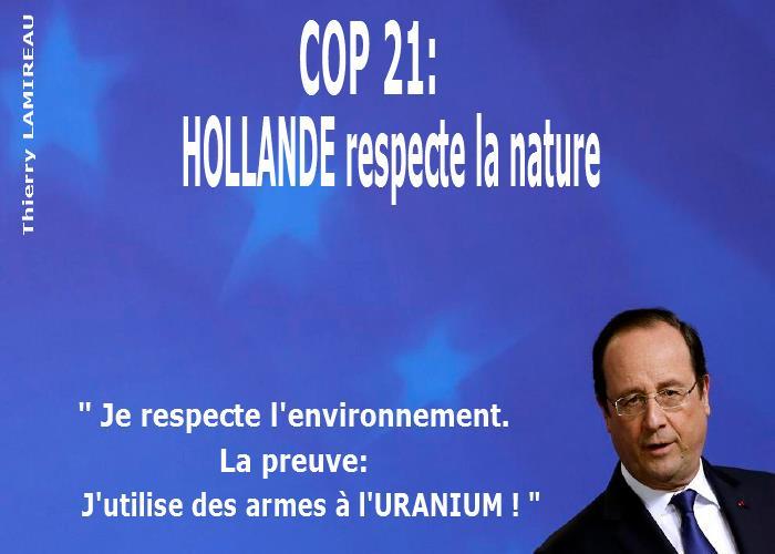 HOLLANDE respecte l'environnement