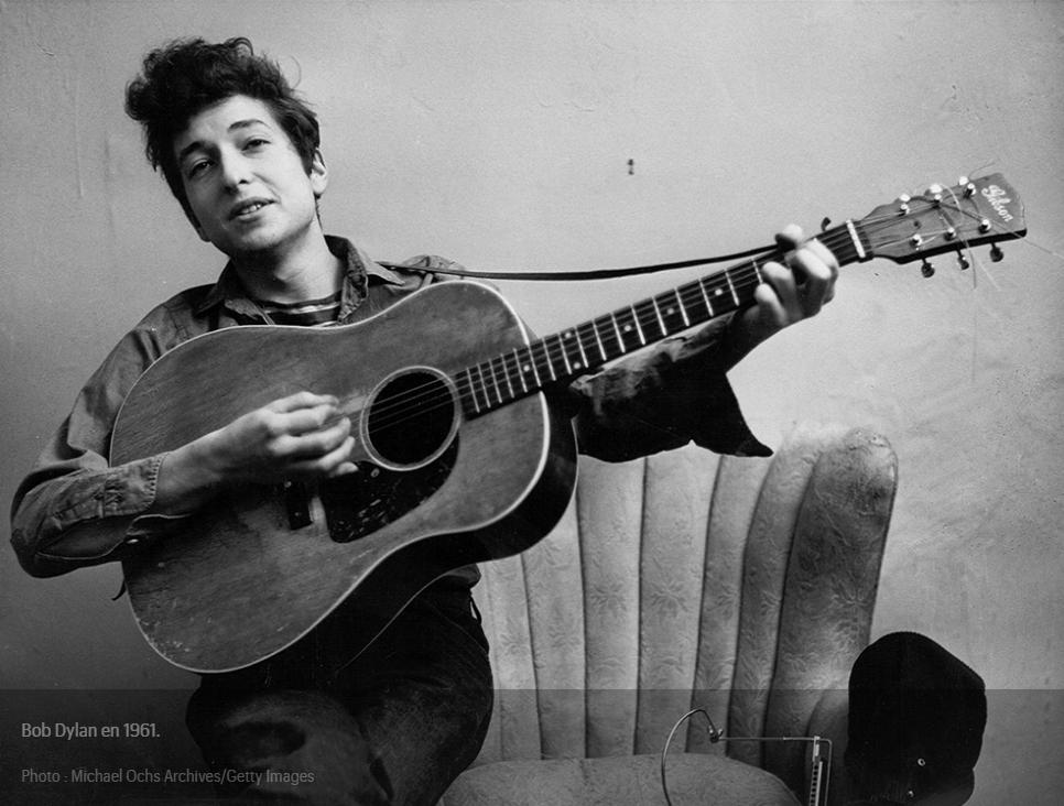 Bob DYLAN jeune en 1961