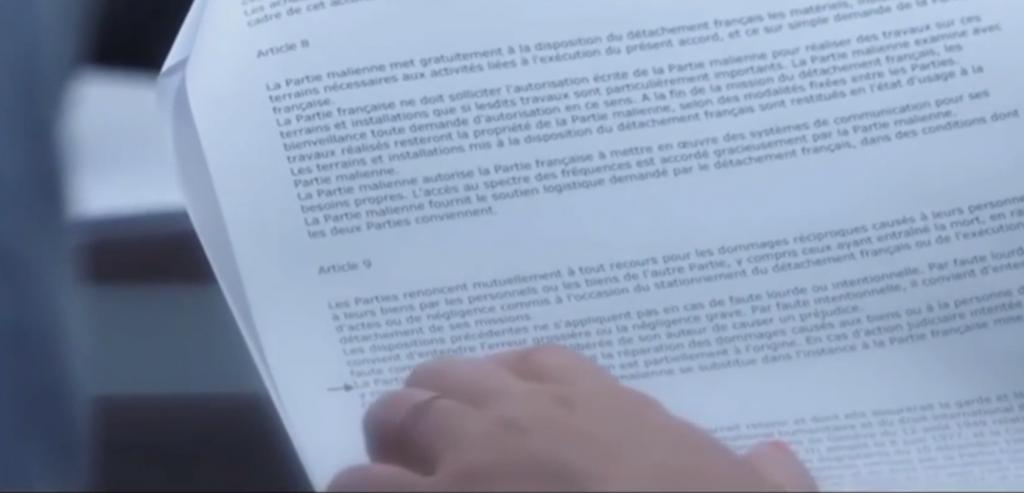 Article 9 SOFA La FRANCE pas responsable des problèmes
