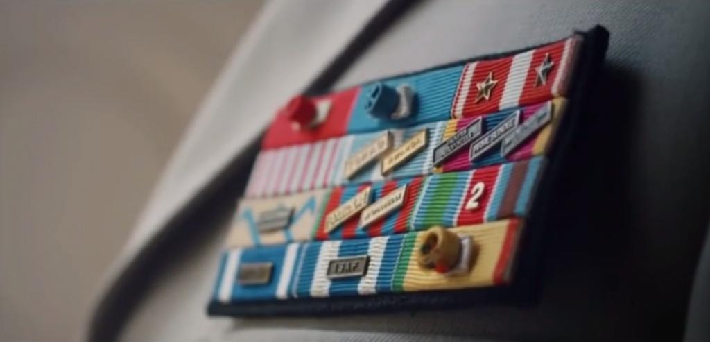 décorations d'un gradé de commandement français