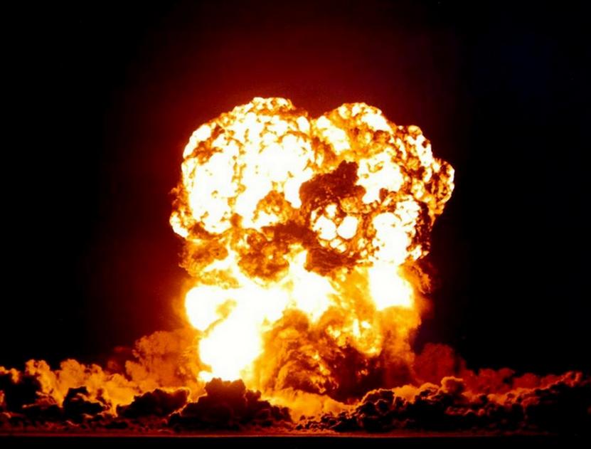 Explosion d'armes à l'URANIUM
