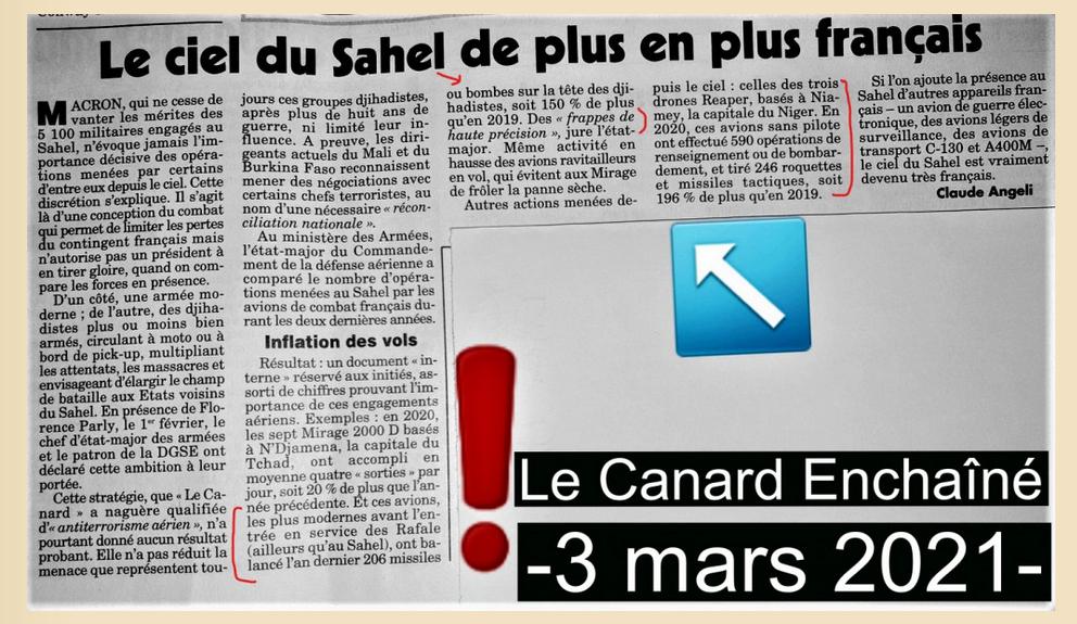 Canard Enchaîné Censure UA Claude ANGELI 3 mars 2021