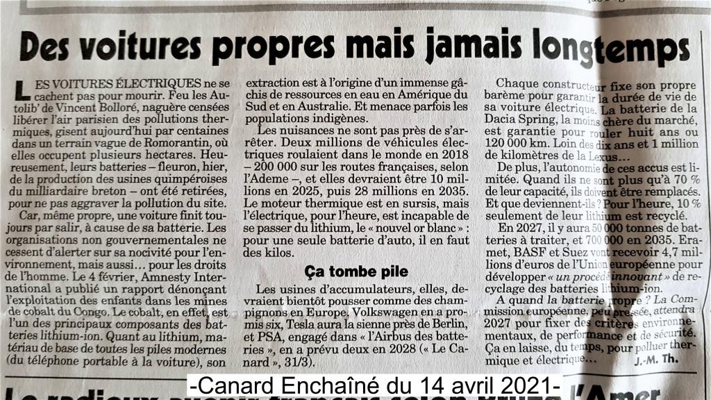 Canard Enchaîné du 14 avril 2021