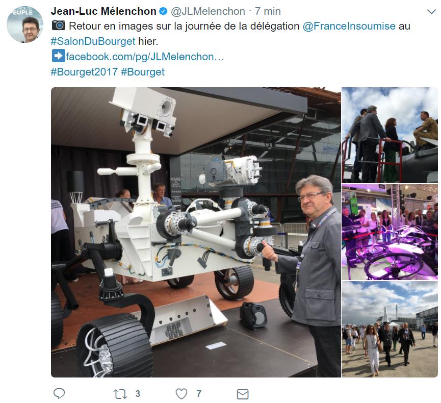 Délégation France Insoumise au Bourget 2017
