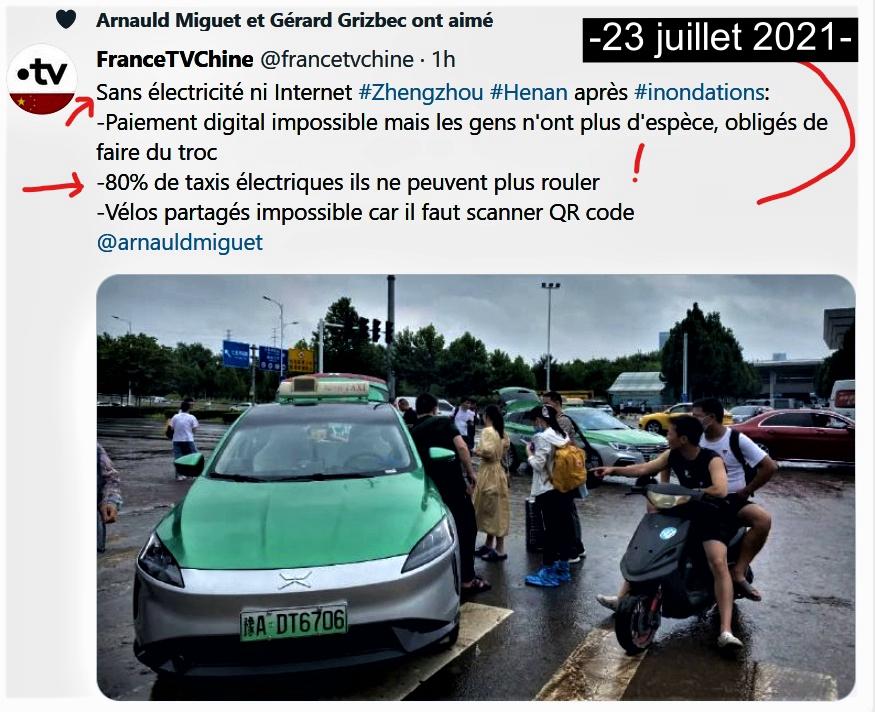 InkedCHINE INONDATION 80% des taxis électriques ne peuvent plus rouler 23 juillet 2021png_LI