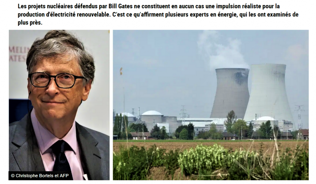 Les rêves nucléaires de Bill GATES 12 avril 2021