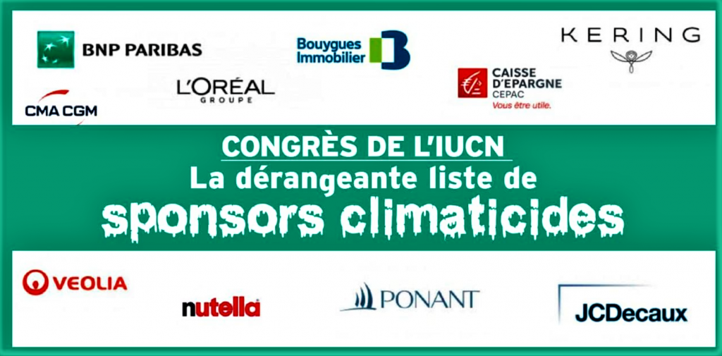 Les sponsors de l'IUCN