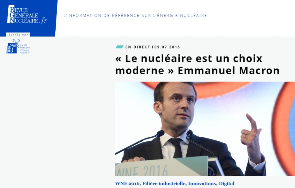 MACRON et le nucléaire