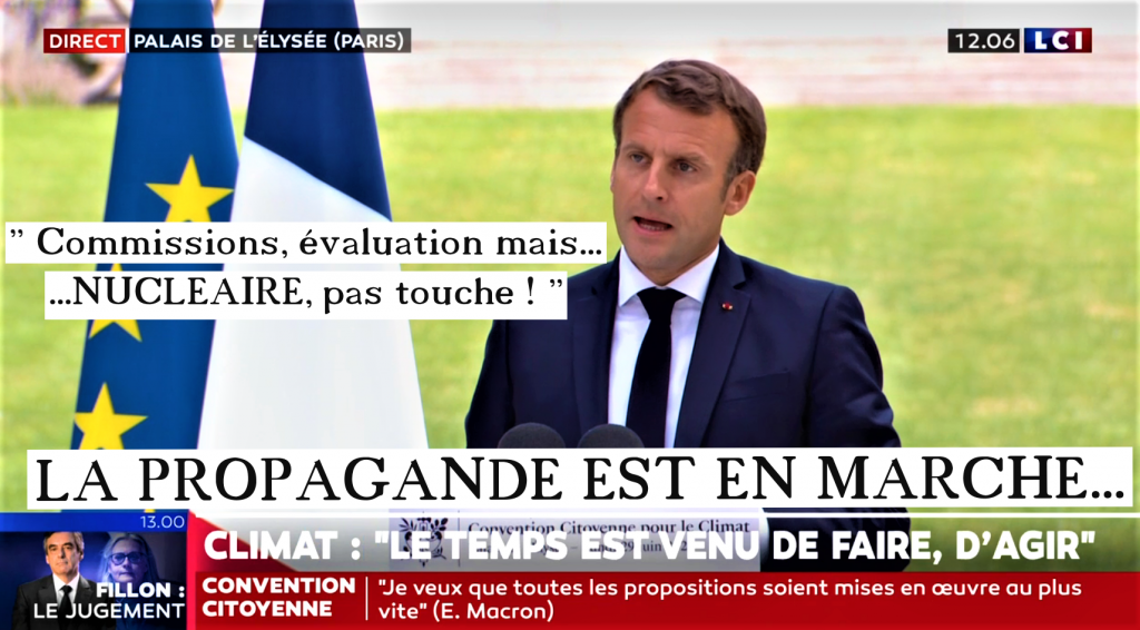 MACRON Fin Convention Citoyenne 29 juin 2020