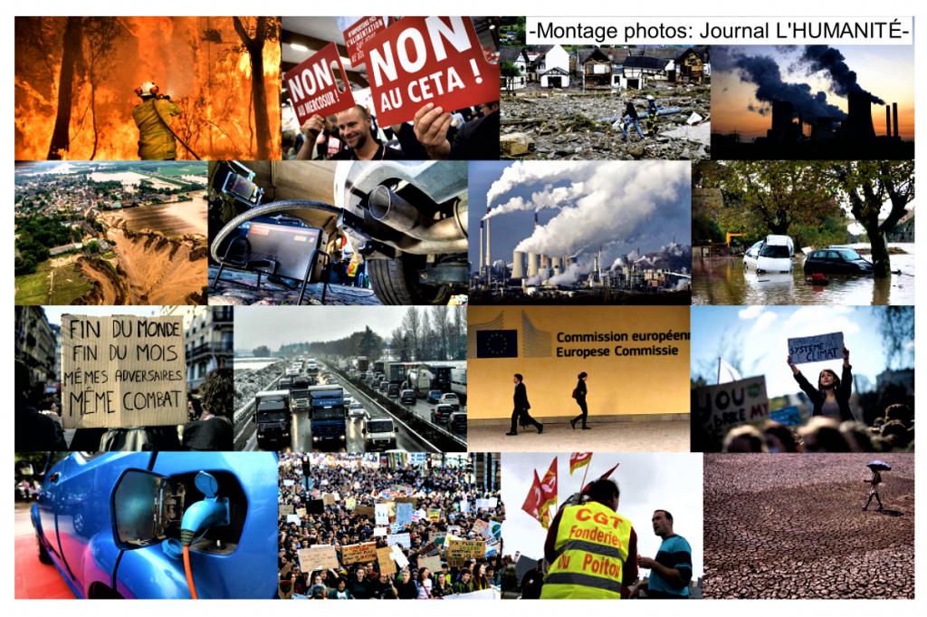 Montage photos journal L'HUMANITÉ