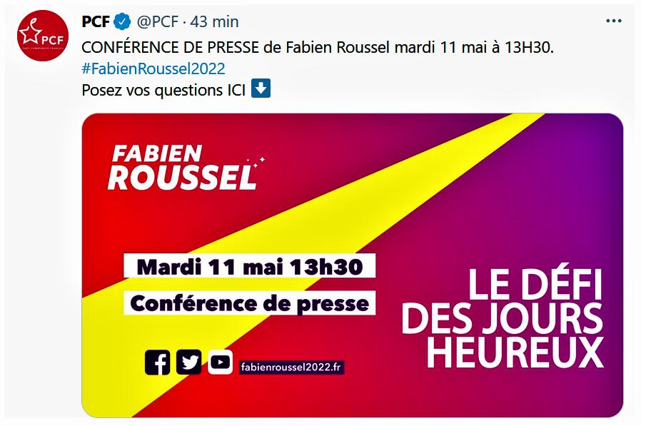 PCF le Défi des jours heureux 10 mai 2021