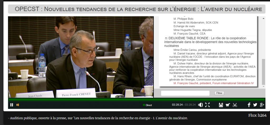 Pierre Frananck CHEVET ASN à l'Assemblée Nationale