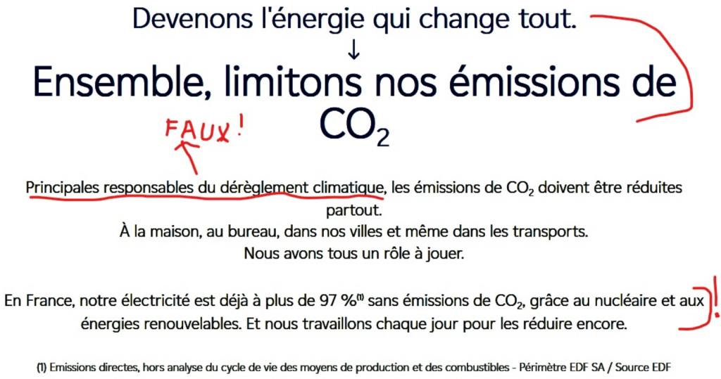 Propagande EDF sur le CO2