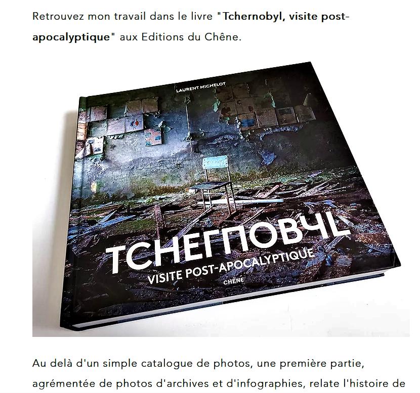 TCHERNOBYL livre de Laurent MICHELOT en 2021