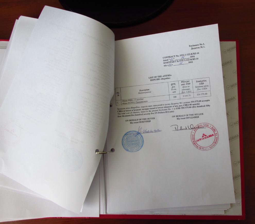 Contrat armes pour UKRAINE
