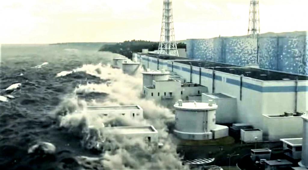 FUKUSHIMA Arrivée du Tsunami sur la centrale 11 mars 2011
