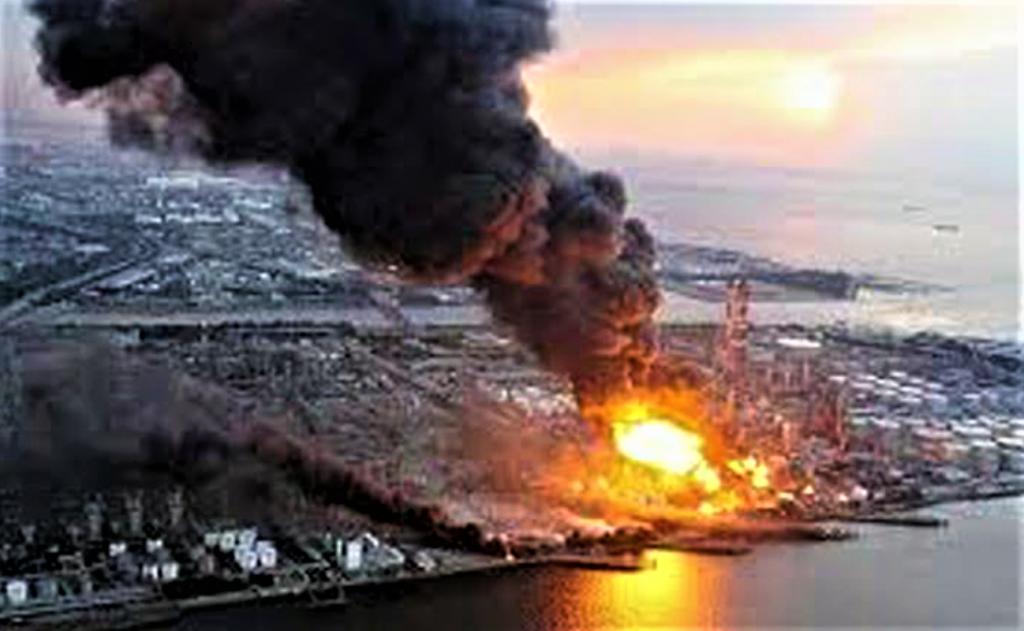 FUKUSHIMA centrale en feu 11 mars 2011
