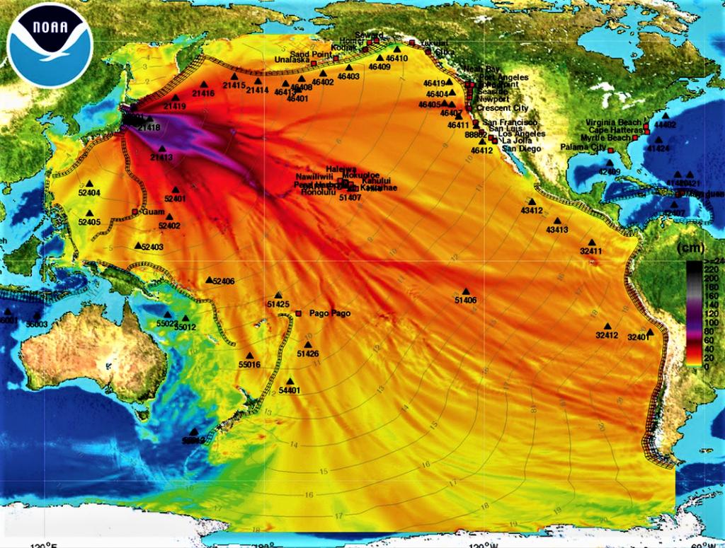 FUKUSHIMA contamination dans la mer 11 mars 2011
