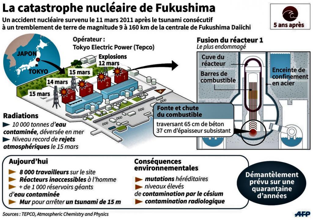 FUKUSHIMA schéma de la catastrophe 11 mars 2011