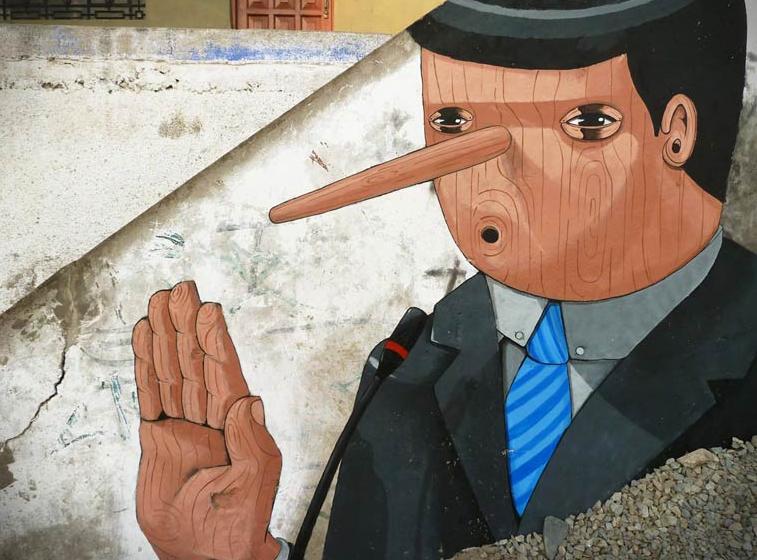 Le politique qui ment