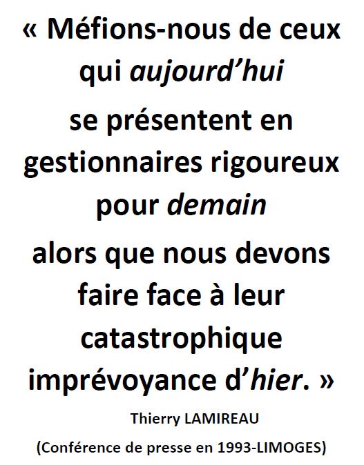 Méfions nous de ceux qui par Thierry LAMIREAU