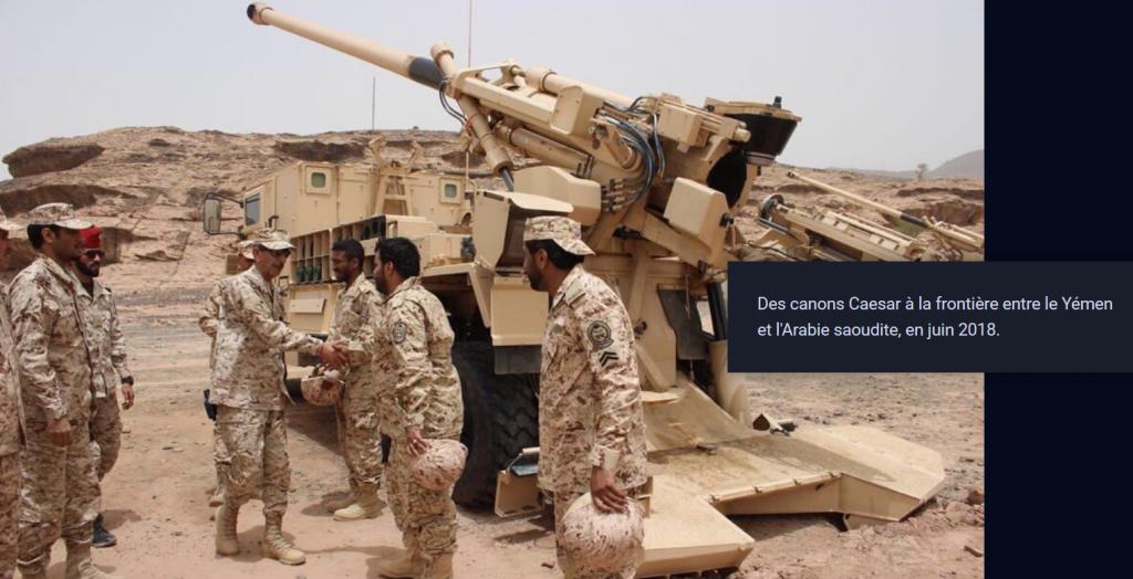 Canons CAESAR frontière Arabie saoudite YEMEN