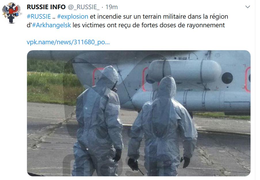 Radioactivité région ARKHANGELSK victimes fortement irradiées