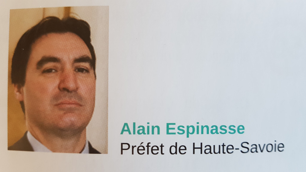 Alain ESPINASSE Préfet de HAUTE SAVOIE