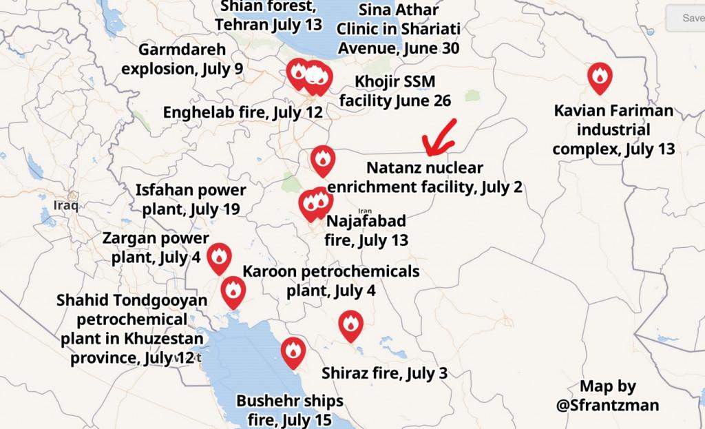 InkedLieux des différents bombardements en IRAN en date du 19 juillet 2020_LI