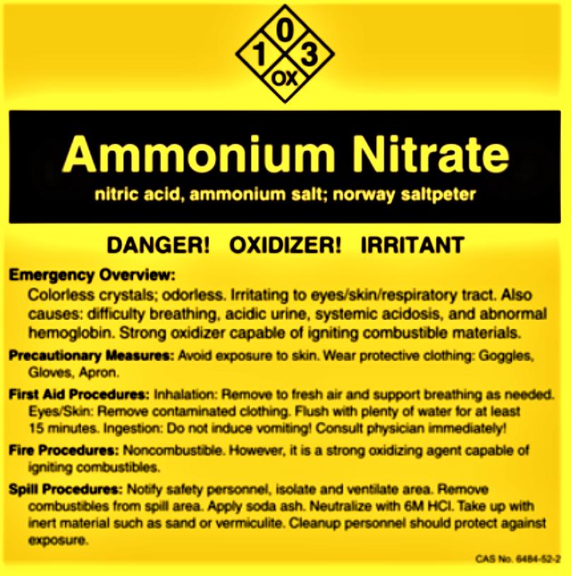 Notice nitrate d'ammonium