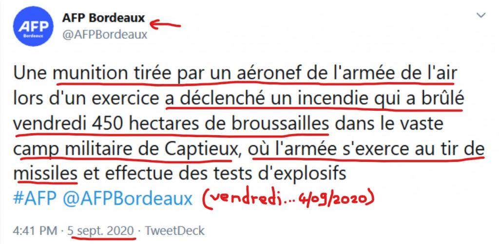 Inked450 ha brûlés après tir missile UA sur site de CAPTIEUX Annonce AFP Bordeaux du 5 septembre 2020png_LI