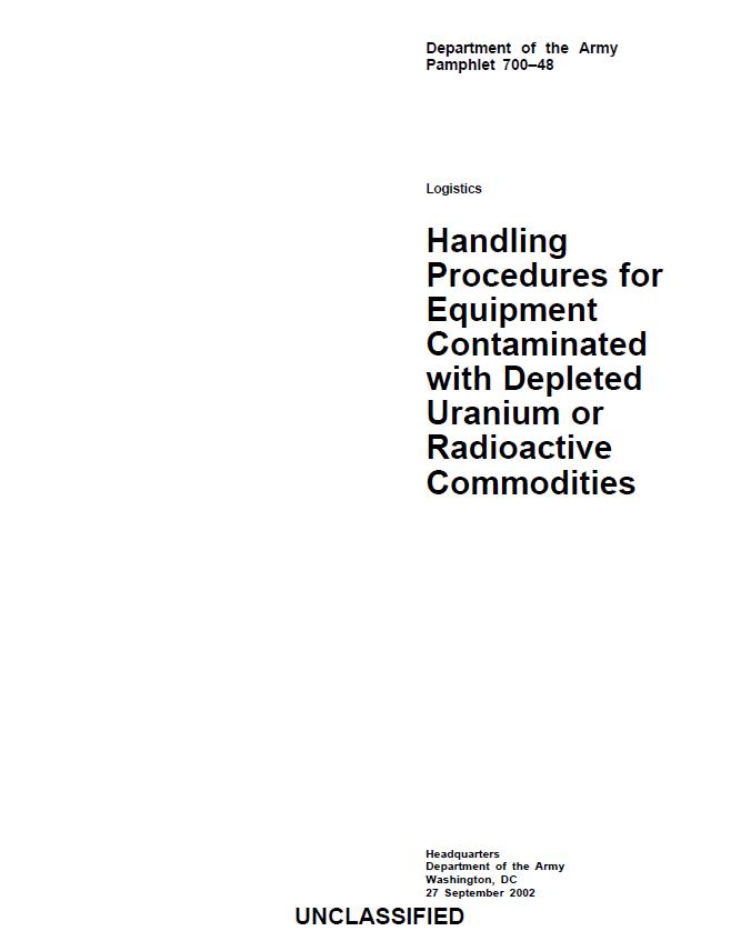Titre Procédures de décontamination UA Armée américaine